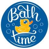 Pato del tiempo del baño Foto de archivo