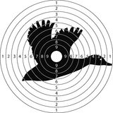 Pato del tiroteo de la blanco Imagenes de archivo