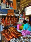 Pato do assado na cidade de China Imagens de Stock