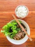 Pato e arroz do macarronete Imagem de Stock