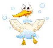 Pato e espuma Imagem de Stock