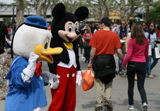 Pato e Mickey Mouse de Donald Imagem de Stock
