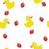 Pato e morango Ilustração Stock