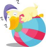 Pato el dormir ilustración del vector