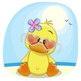 Pato en la playa ilustración del vector