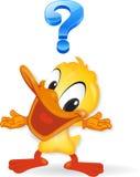 Pato - ilustración de la pregunta Fotografía de archivo libre de regalías