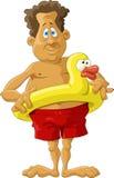 Pato inflável ilustração stock