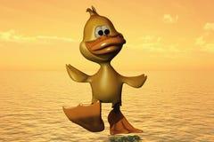 Pato que anda na água Fotografia de Stock