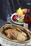 Pato Roasted com vinho Foto de Stock Royalty Free