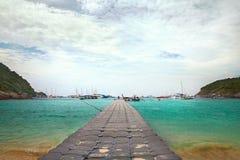 Patok海滩, Ko Racha亚伊海岛,泰国 库存图片