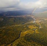 Patoka rzeka, Subpolar Urals Fotografia Stock