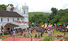 Patolienchem fest at Socorro. Socorro, Goa, India - August 15, 2017: Locals and tourists participate in annual Patolienchem fest that showcases trades, crafts Stock Image