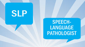 Patologia da língua do discurso Imagem de Stock