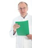 Patologista com resultados urgentes Fotos de Stock