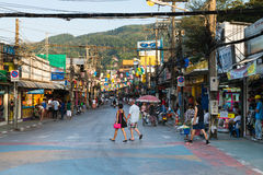 Patong Bangla road at day, Phuket, Thailand Royalty Free Stock Image