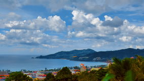 Patong bay and mountains stock footage