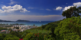 Patong Bay View. An image of Patong bay Phuket stock image