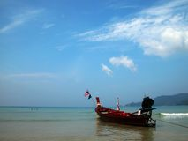 Patong beach. Sea view of Patong beach Stock Images