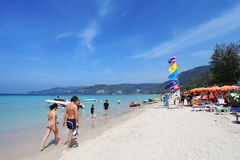 Patong Beach in Phuket Thailand Stock Photography