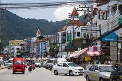 PATONG BEACH, THAILAND - CIRCA SEPTEMBER 2015: Street traffic in Patong Beach resort town, Patong Beach, Phuket,  Thailand Stock Photography