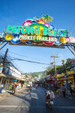 Patong Beach welcome sign Royalty Free Stock Photo