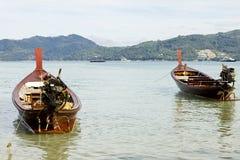patong för strandfartyglongtail Royaltyfri Bild