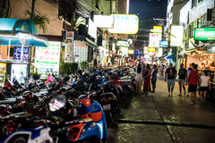 Patong night street in phuket, Thailand 2017 Royalty Free Stock Photo