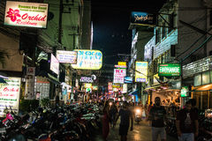 Patong night street in phuket, Thailand 2017 Stock Images