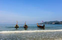 PATONG plaża I LONGTAIL łodzie Obraz Royalty Free