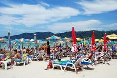 Patong, Tailandia: Spiaggia famosa di Patong Fotografie Stock Libere da Diritti