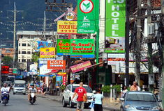Patong, Thailand: Busy City Street Stock Photos