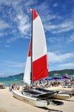 Patong, Thailand: Catamarran Sail Boat Royalty Free Stock Photography