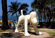 Patong, Thailand: Dog Sculpture at Beach Stock Photos