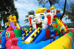 Patong, Thailand: Kid's Play Center on Beach Stock Image