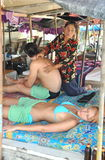 Patong, Thailand: Massage on the Beach Stock Image