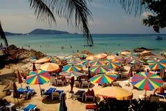 Patong, Thailand: Patong Beach Umbrellas Stock Photography