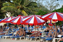 Patong, Thailand: People on Beach Stock Photography