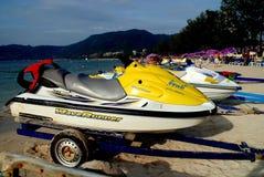 Patong, Thailand: Rental Jet Skis Stock Photo