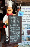 Patong, Thailand: Restaurant Sign in German Stock Photography