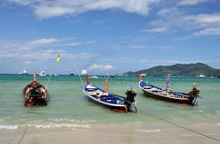 Patong, Thailand: Thai Long Boats Royalty Free Stock Image