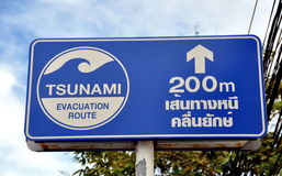 Patong, Thailand: Tsunami Evacuation Sign Stock Images