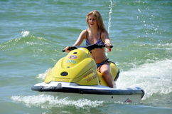 Patong, Thailand: Woman on Jet Ski Royalty Free Stock Photography