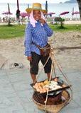 Patong, Thailand: Woman Selling Food Stock Photo