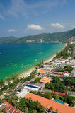 Patong tropical beach from aerial view. Royalty Free Stock Image
