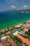 Patong tropical beach from aerial view. Stock Photography
