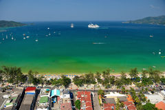 Patong tropical beach from aerial view,  Phuket Royalty Free Stock Photo