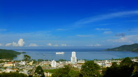 Patong view stock footage