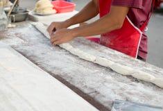 Patongko, bastone fritto in grasso bollente della pasta, grissino cinese Fotografia Stock Libera da Diritti