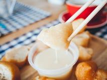 Patongko i słodzący zgęszczony mleko Zdjęcie Royalty Free