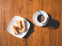 Patongko lub głęboko smażący ciasto kija ranku set Fotografia Stock